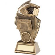 Bronze/Gold Dominoes Curved Plaque Trophy - 6.75in