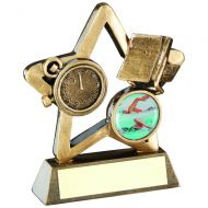Bronze/Gold Swimming Mini Star Trophy 4.25in