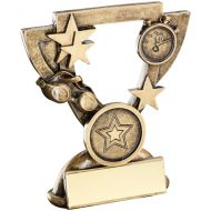 Bronze/Gold Swimming Mini Cup Trophy - 3.75in