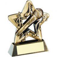 Bronze/Gold Music Mini Star Trophy 3.75in