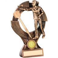 Bronze/Gold Female - Ladies Darts Quartz Figure Trophy 8.25in