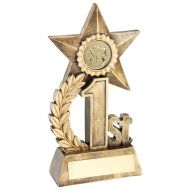 Leaf And Star Award Trophy Award With Athletics Insert - Silver 2nd - 5.5in : New 2018