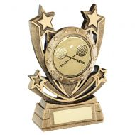 Bronze Gold Shooting Star Series with Squash Insert Trophy Award 6.75in : New 2020