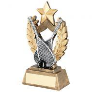Squash Wreath Shield Gold Star Trophy Award 6.5in : New 2018