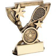 Bronze/Gold Squash Mini Cup Trophy - 4.25in