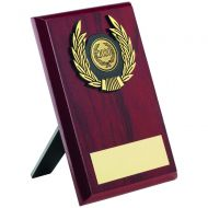 Rosewood Plaque Gold Trim Trophy 6in
