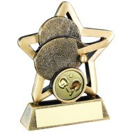 Bronze/Gold Table Tennis Mini Star Trophy 4.25in