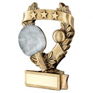 Bronze Pewter Gold Table Tennis 3 Star Wreath Award Trophy 5in : New 2019