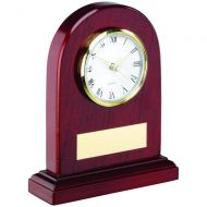 Arched Wooden Clock Trophy 6in