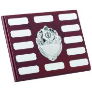 Rosewood Plaque Chrome Fronts 12 Plates 6 X 8in