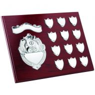 Rosewood Plaque Chrome Fronts 12 Record Shields 9 X 12in