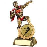 Bronze/Gold/Red Resin Generic Hero Award Rugby - 7.25in