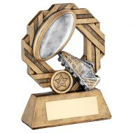 Bronze Pewter Gold Rugby Octo Ribbon Series Trophy Award 8.5in : New 2020