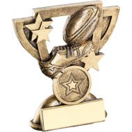 Bronze/Gold Rugby Mini Cup Trophy - 3.75in