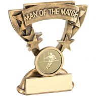 Bronze/Gold Man Of The Match Mini Cup With Rugby Insert Trophy Award - 3.75in : New 2018