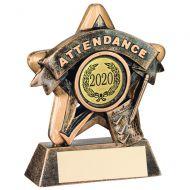 Mini Star Attendance Trophy Bronze/Gold Attendance 3.75in
