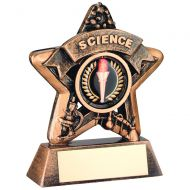 Mini Star Science Trophy Bronze/Gold Science 3.75in