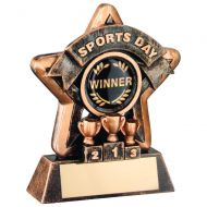 Mini Star Sports Day Trophy Bronze/Gold Sports Day 3.75in