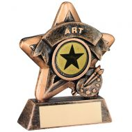 Mini Star Art Trophy Bronze/Gold Art 3.75in