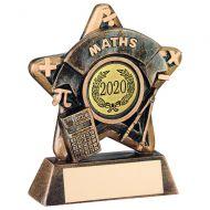 Mini Star Maths Trophy Bronze/Gold Maths 3.75in