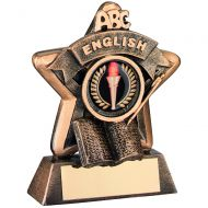 Mini Star English Trophy Bronze/Gold Award 3.75in