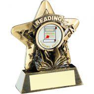 Bronze/Gold Reading Mini Star Trophy 3.75in