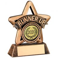 Bronze/Gold Resin Runner Up Mini Star Trophy 3.75in