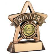 Bronze/Gold Resin Winner Mini Star Trophy 4.25in