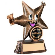 Bronze/Gold Resin Generic Comic Star Figure Trophy 5in