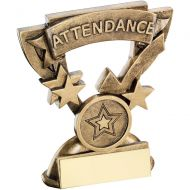Bronze/Gold Attendance Mini Cup Trophy - 3.75in