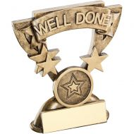 Bronze/Gold Well Done Mini Cup Trophy - 3.75in