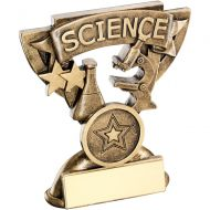 Bronze/Gold Science Mini Cup Trophy - 3.75in