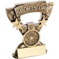 Bronze/Gold Sports Day Mini Cup Trophy - 3.75in