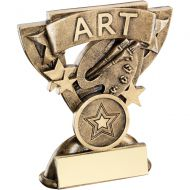 Bronze/Gold Art Mini Cup Trophy - 3.75in
