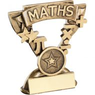 Bronze/Gold Maths Mini Cup Trophy - 3.75in
