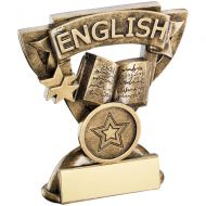 Bronze/Gold English Mini Cup Trophy - 3.75in