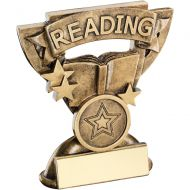 Bronze/Gold Reading Mini Cup Trophy - 3.75in