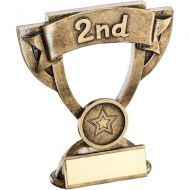 Bronze/Gold Mini Cup Trophy - 2nd 4.25in