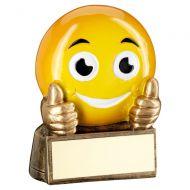 Bronze Yellow Thumbs Up Emoji Figure Trophy 2.75in : New 2019