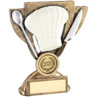 Bronze/White/Silver Cooking Mini Cup Trophy Award - 6in : New 2018