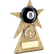 Bronze/Gold/Black Pool Star On Pyramid Base Trophy - - 5in