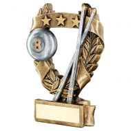 Bronze Pewter Gold Pool Snooker 3 Star Wreath Award Trophy 7.5in : New 2019