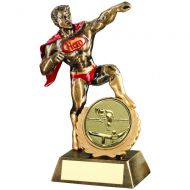 Bronze|Gold|Red Resin Generic Hero Trophy Award With Pool|Snooker Insert - 7.25in