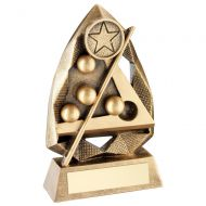 Bronze/Gold Pool/Snooker Diamond Collection Trophy Award - 5in : New 2018