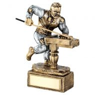Bronze Pewter Pool Snooker Beasts Figure Trophy 6.75in : New 2019