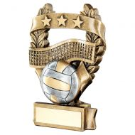 Bronze Pewter Gold Volleyball 3 Star Wreath Award Trophy 6.25in : New 2019