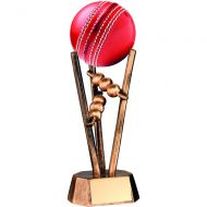 Bronze/Gold Resin Cricket Ball Holder 6.5in