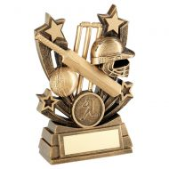 Bronze Gold Shooting Star Series Cricket Trophy Award 4in : New 2020