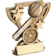 Bronze/Gold Cricket Mini Cup Trophy - 3.75in
