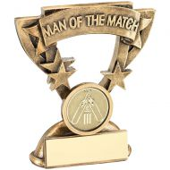 Bronze/Gold Man Of The Match Mini Cup With Cricket Insert Trophy Award - 3.75in : New 2018